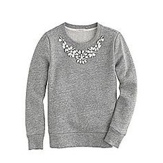 Girls' necklace sweatshirt
