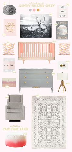 @Joni Lay / Lay Baby Lay gives you inspiration for a candy coated cozy nursry! See the full post on Style Spotters: http://www.bhg.com/blogs/better-homes-and-gardens-style-blog/2013/08/27/get-the-look-candy-coated-cozy/?socsrc=bhgpin082913candycozy