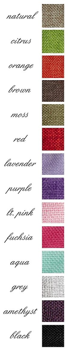 BURLAP RIBBON - Perfect for rustic or vintage wedding decorations - wired polyester-woven faux burlap ribbon - Available in 12 colors: Natural, Orange, Citrus Green, Brown, Red, Moss Green, Light Pink, Fuchsia, Lavender, Grey, Purple, Black, Amethyst & Aqua Blue - Wedding Supplies - event decorations - party supplies #burlap  http://www.yourweddingcompany.com