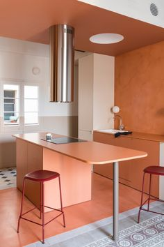 This Barcelona Apartment Underwent a Colorful Renovation   Architectural Digest