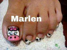 toe nail art design ideas for summer Animal Nail Designs, Nail Art Designs Videos, Toe Nail Designs, Nails For Kids, Girls Nails, Toe Nail Art, Easy Nail Art, Country Nails, Nail Drawing