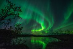 Storming aurora #2 by Bernt Olsen