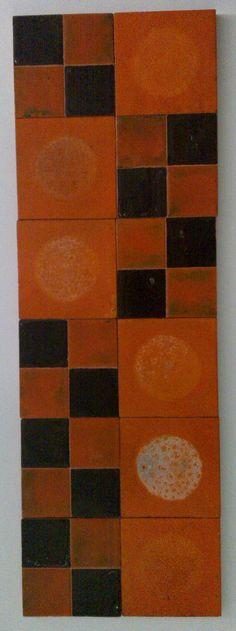 naranja y marrón