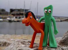 my best buddies Pokey the pony and Gumby