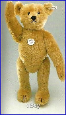 STEIFF TEDDY BEAR 1906 REPLICA EAN 405891 BLOND MOHAIR, EXCELSIOR STUFFED