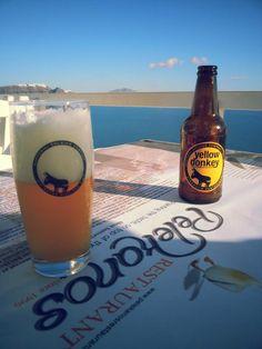 greece santorini island and santorini beer