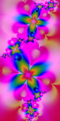 Rainbow Flowers by EsmeraldEyes on deviantART