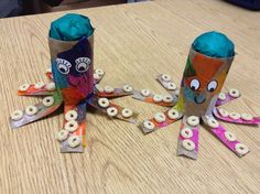 Precious Toddler: Arts and Crafts Time: Toilet Paper Roll Octopus