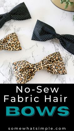 No Sew Bow, Fete Ideas, Fabric Hair Bows, Crafts For Kids, Diy Crafts, Crochet Girls, Diy Hair Accessories, Fabric Scraps, Diy Hairstyles