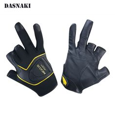 fishing gloves with cut three finger Anti-Slip Outdoor Slip-Resistant Mitten Wear resistant glove for fishing magnetic adhesive
