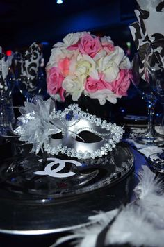 Chanel No. 40 Classy & Fabulous Masquerade Birthday Party Ideas   Photo 1 of 38   Catch My Party