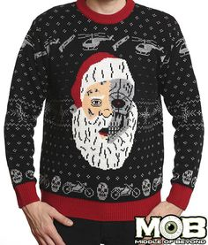 Sweater This Is My I Hate Xmas Jumpers Christmas Jumper Men/'s Black