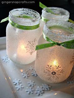 White Christmas Luminaries