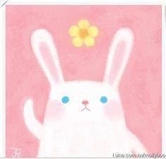 壁纸 手绘 插画 萌系 小兔子      ╯з ︶ 麽麽
