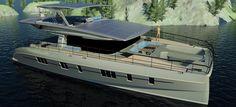 Solarwave 62 zero emission luxury yacht nears completion Power Catamaran, Yacht Design, Sail Away, Motor Boats, Luxury Yachts, Sailing, Solar, Ocean, Electric