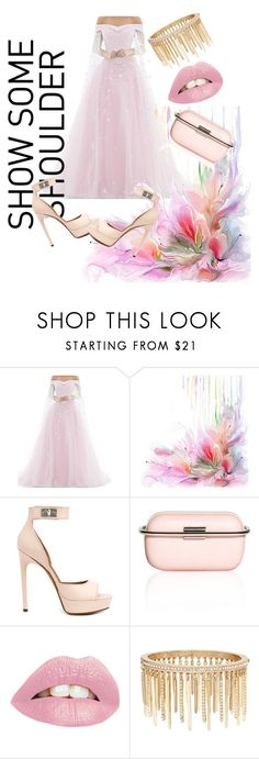 """pinky ponky"" by ishitayadav ❤ liked on Polyvore featuring Givenchy, Corto Moltedo and Jenny Packham"