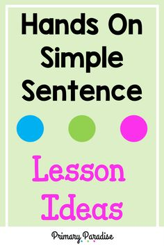 These hands on lessons are a simple way to teach your kindergarten and first grade students how to write a simple sentence with capitalization, punctuation, and a complete thought. Back To School Organization, Back To School Hacks, Back To School Activities, Teacher Organization, Teacher Hacks, School Ideas, Classroom Hacks, Classroom Activities, Learning Activities