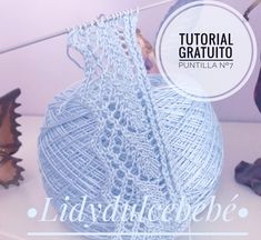 : Free Tutorial Puntilla No. 6 - Her Crochet Baby Knitting Patterns, Lace Patterns, Knitting For Kids, Lace Knitting, Knitting Stitches, Crochet Patterns, Knitting Ideas, Crochet Diy, Hand Crochet