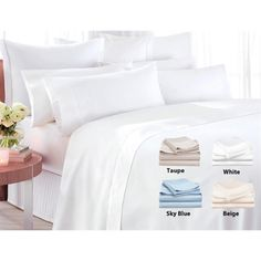 300 Count Organic Cotton Sateen Bed Sheet Set - Save If only they fit my bed. Bed Sheet Sets, Bed Sheets, Dream Decor, Holiday Gift Guide, Cool Items, Queen Size, Cool Things To Buy, Master Bedroom, Home
