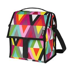 Kids' Lunch Bags - PackIt Freezable Deluxe Large Lunch Bag with Shoulder Strap Viva -- Want to know more, click on the image.