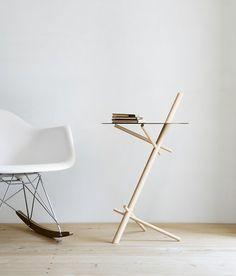 Minimalist wooden side table #sidetabledesign minimalist design #livingroom the living room #modernlivingroom living room design . See more inspirations at www.coffeeandsidetables.com