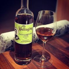 """Sherry 101:  Palo Cortado """"The Most Elegant Sherry""""  Serve it between 12 and 14 C in a white wine glass It combines the subtlety of an Amontillado with the roundness of an Oloroso. Its composition allows it to be stored in open bottles for months it's a wine to be enjoined glass by glass.   Photograph by Toby Sigouin - Wellington VOS a 20 year old Palo Cortado by Bodegas Hidalgo of Sanlucar de Barrameda.  #sherrylover #palocortado #mysteriouswine #sherrywines #vinosdejerez #noblewines…"""