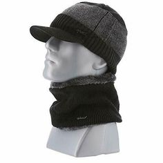 89766fb789ff47 USA Mens Fashion Beanie Knitted Hat with Knitted Fleece Lined Neck Warmer  (Black #fashion