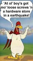 Most memorable quotes from Foghorn Leghorn, a movie based on film. Find important Foghorn Leghorn Quotes from film. Foghorn Leghorn Quotes about foghorn leghorn and chicken hawk as a chicken character from movie. Looney Tunes Funny, Looney Tunes Cartoons, Cartoon Jokes, Cartoon Pics, Funny Cartoons, Funny Jokes, Hilarious, Political Cartoons, Classic Cartoon Characters