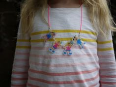 Shrinky Dink family portrait necklace