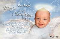 Very cute christening invite