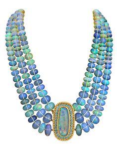 Black Opal necklace by Paula Crevoshay Opal Necklace, Body Jewelry, Gemstone Jewelry, Beaded Necklace, Jewelry Necklaces, Bracelets, Modern Jewelry, Vintage Jewelry, Black Opal