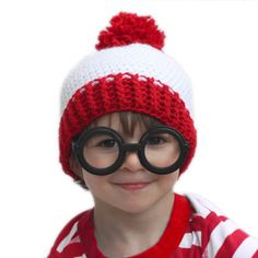 7552ba4f9 8 Best Where's Waldo hat images in 2016 | Crochet hats, Crocheted ...