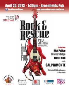 Rock and Rescue Fundraiser Event with Genesis Dog rescue and Rock and Rescue Ottawa!