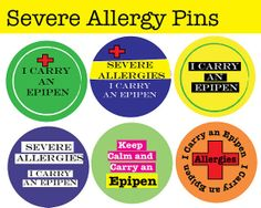 I carry an epipen - Personalized Allergy Pins - Pin Back Buttons  - 2.25 inches on Etsy, $2.50