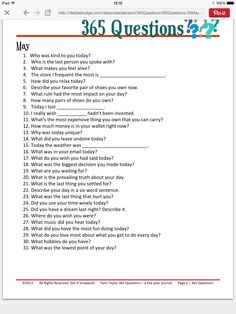 365 questions May - for 5 year journal - would be interesting to add into journaling for project life. 5 Year Journal, Daily Journal, Journal Prompts, Writing Prompts, Writing Tips, Bullet Journal, Writing Journals, Journal Challenge, Journal Cards