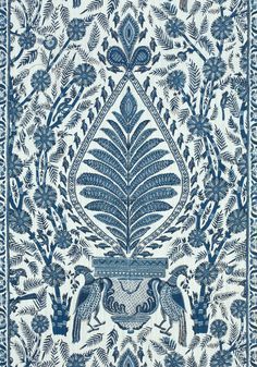 PALAMPORE, Blue and White, AF78725, Collection Palampore from Anna French
