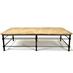 Esteban Mango Wood Coffee Table  $999.00 #homedesignstoremiami