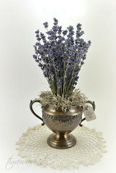 Lavender in tarnished silver.  Perfect for Spring ! (pinned from Timewashed)