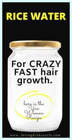 Extreme Hair Growth, New Hair Growth, Natural Hair Growth, Natural Hair Styles, Hair Growing Tips, Grow Hair, Rice Water Recipe, Water Recipes, Hair Remedies