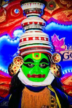 Folk dance costume in Kerala, India