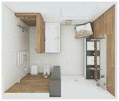 Komplettes bad auf ganz wenig raum mit badewanne und for Grundriss badezimmer 12qm