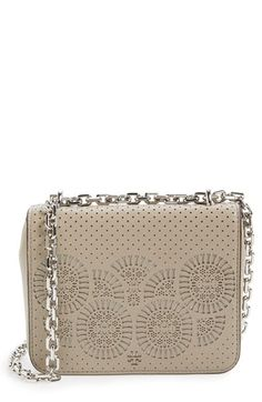 Tory Burch Tory Burch 'Zoey' Perforated Leather Shoulder Bag available at #Nordstrom