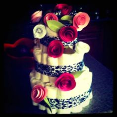 Diaper Cakes and Paper Flowers