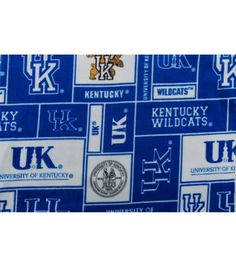 University of Kentucky NCAA Fleece Fabric