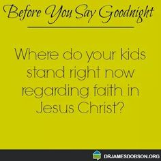 Your Child's Relationship With God