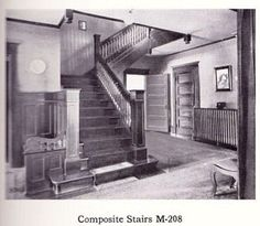 Composite stairs (no idea why they are called that ) in a Craftsman bungalow.
