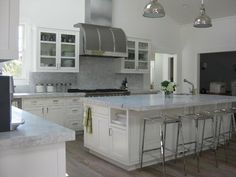 White Princess Granite- looks like marble but has the properties of granite. Perfect for a kitchen with a real cook.