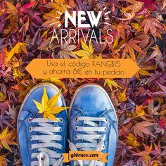 Más Novedades!! Recordar que tenéis un código de Fan para ahorraros 8€ en productos de la nueva temporada, y a demás envío gratuitos!   #zapatos #moda #tendencias #gbbravo