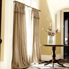 Check Panel with Valance | French Pleats for living room re-decoration