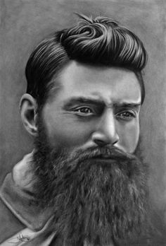 Ned Kelly drawing by john harding on ARTwanted Ned Kelly, Western Tattoos, Works With Alexa, Cute Chibi, Anglo Saxon, Lee Jeffries, Book Photography, Beard Styles, Airbrush